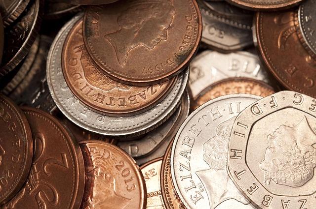 anglické mince