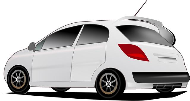 bílé vozidlo